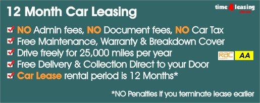 1 Year Car Leasing / 12 Month Car Leasing