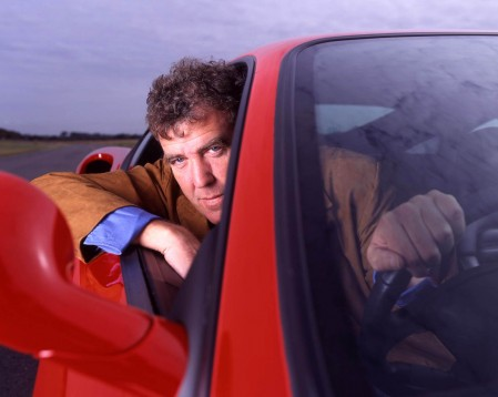 Jeremy Clarkson in his car